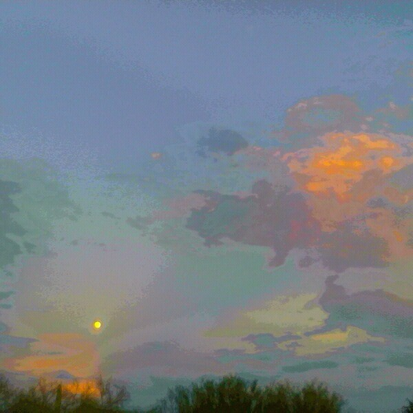 Moonrise in Tucson, AZ  <br/>