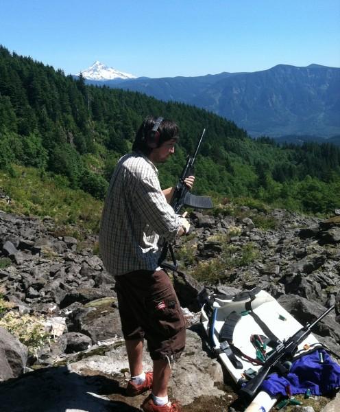 Combo platter climbing and shooting trip.