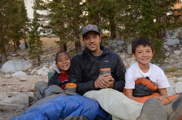 Coffee and sleepin' bag time with your boys at ten thousand feet is ab...