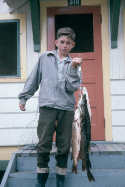 Fishing at age 11 or so
