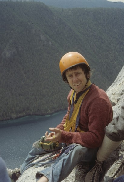 Vancouver climber & South African expatriate hardman, Ross Nichol, off...