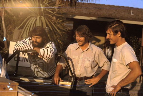 CA, 1974; L to R: Russ Mclean, Joe McKeown, Dennis Hennek