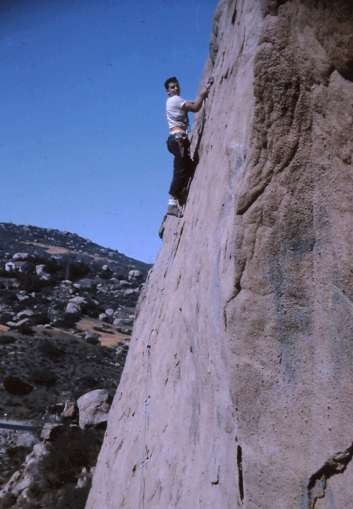 "Don Lauria, 2nd ascent of ""Boche Death Route"" (?), 1965."