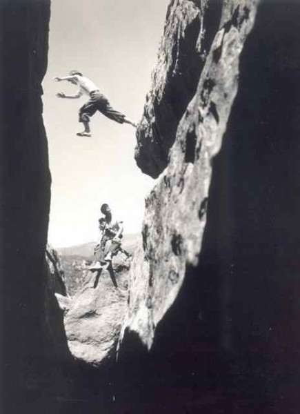 Glen Dawson canyon jumping in the early 30's