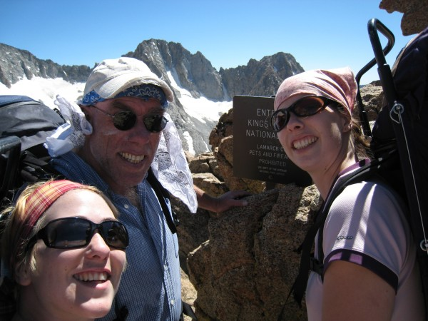 Lamarck Col with daughters