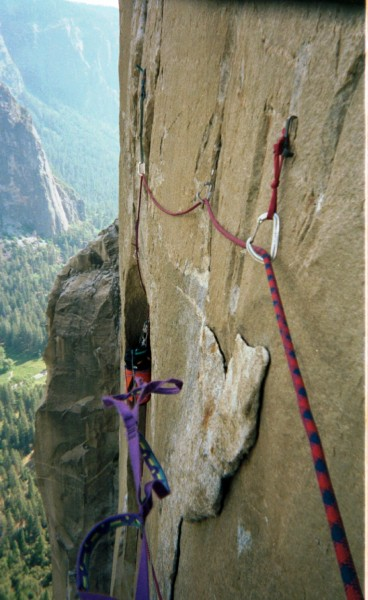 3-th or 4-th pitch above Lay Lady Ledge, Reticent Wal