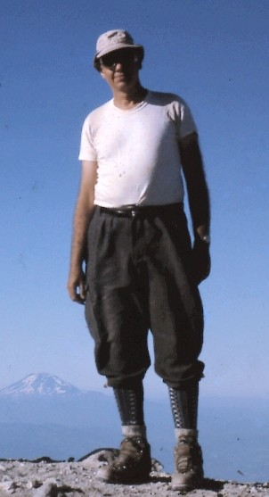 Robert Boche atop Mt. Hood with Mt. Adams on left. 1965. Thanks, Dad.