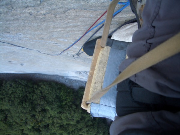 a few pitches up Dihedral Wall