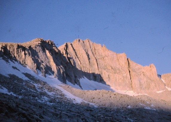Dawn on Mt. Brewer's N.E. face.