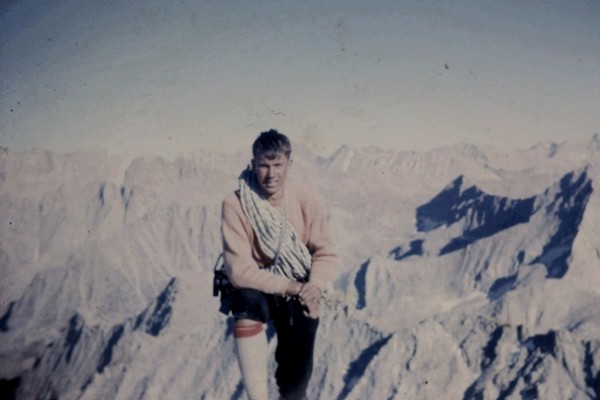 Ken Boche on the Mt. Brewer's summit. Sept., 1963.