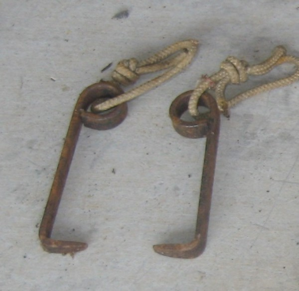 "Bolt hole ""hooks"" made by Dennis Hennek which could be tapped into bol..."