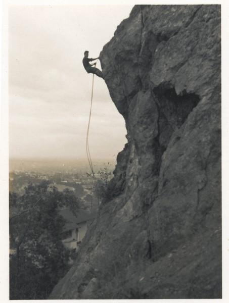 Earlier photo yet. Basement find: Leonard at Cragmont, 1933.