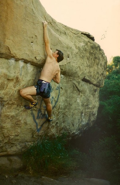 Rex Pieper on route next to Power Glide, Stoney Point, CA circa 1988