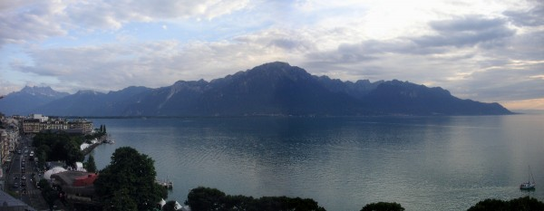 Looking across lake Geneva from Montreux.