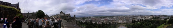 Edinburgh from the old castle in 2008.