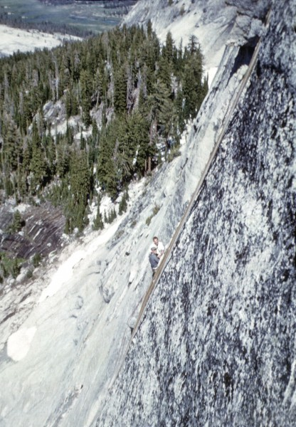 Wally Reed and Denny-first ascent Inverted Staircase 1962 ish