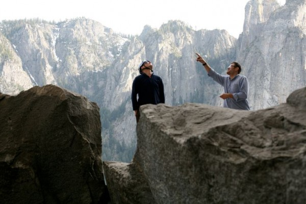 This is Enoch and Calder scoping the route from the base of El Cap. Th...