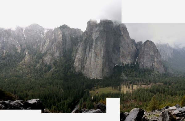 This is a photo-stich of the valley (from the base of Lost in America)...