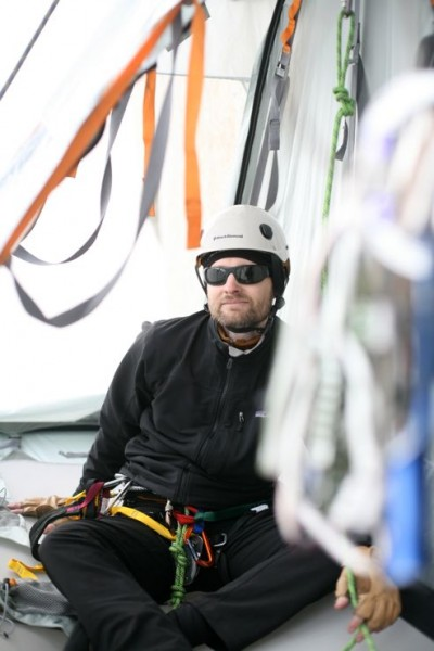 This is me getting used to the portaledge (staying as close as possibl...