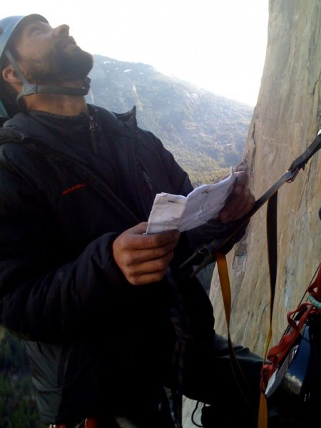 This is Nate getting psyched before leading the runout 5.10 pitch &#40...
