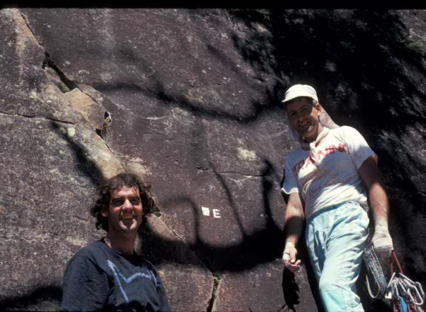 Rick White and Chris Baxter, beneath Eternity, at Mt Piddington, Austr...
