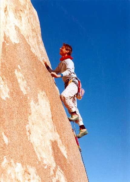 Kris Solem climbing Sexie Sadie