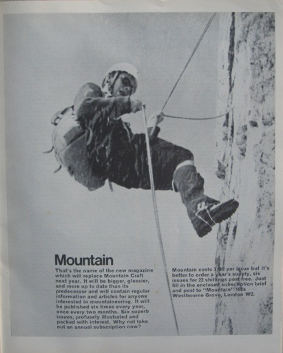 P.45 of Mountain Craft #81. This is the ad that followed the Editorial...
