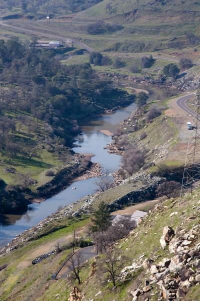 Merced River below New Exchequer dam.