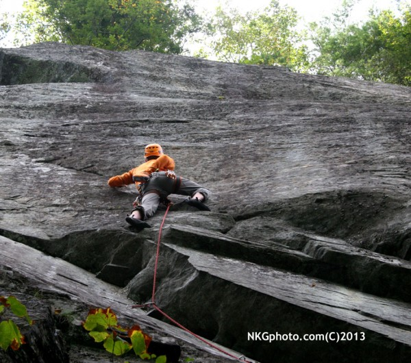 Tyson Miller on the 2nd ascent of The Dancing Fiddler 5.11a/b