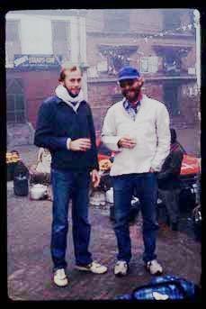 Me on right. Freak Street around Christmas 1981.