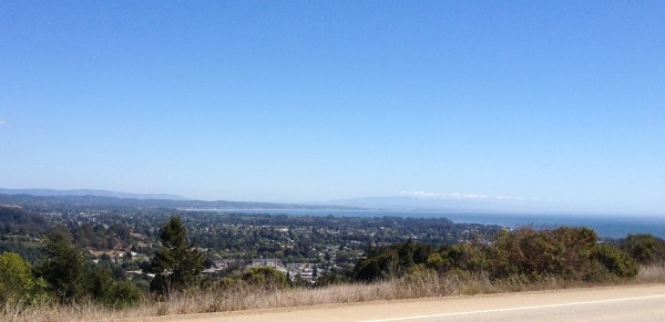 Monterey Bay view today from UCSC