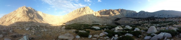 Morning panorama of Old Army Pass