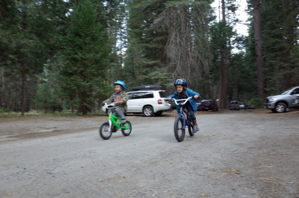 Ripping up the campground.