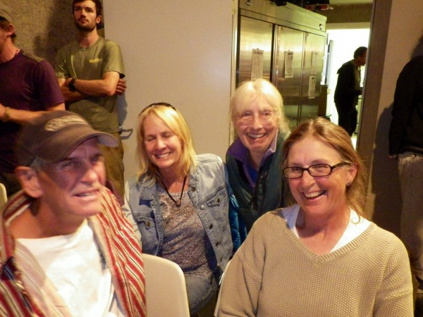 Trumble, Lynnie, Em, and Julia at one of the evening shows