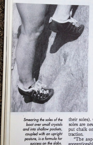 "A well-turned calve--a man's ace in the hole.  From ""Face Climbing"" by..."