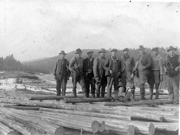 Grasmark - Log drivers - River Rottnan 1927