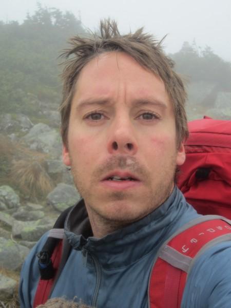 Selfie on the ridge