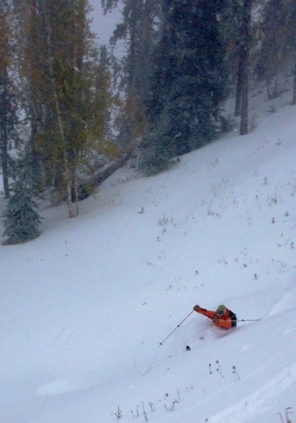 Here is a buddy that skiing after just one day of snow with no previou...