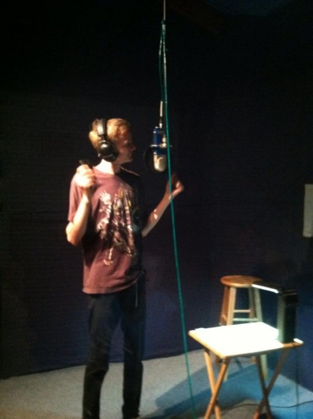 Pickle behind the mic.  <br/>  <br/>
