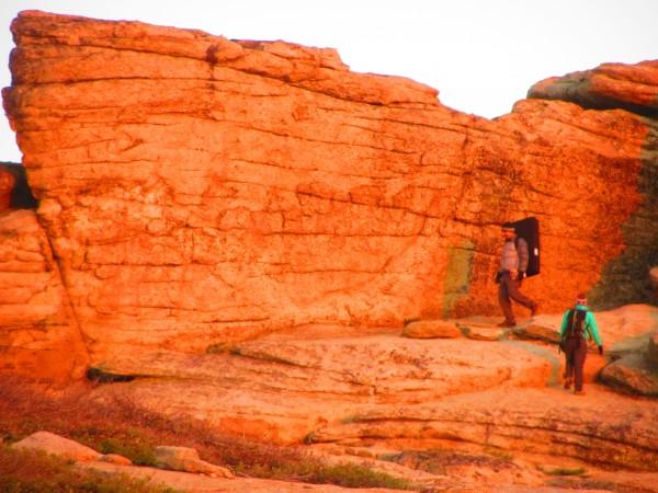 boulders atop high eagle
