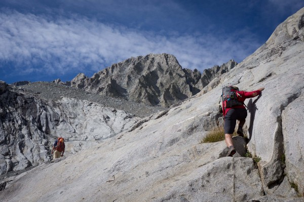 Steep slabs to the never ending talus field proved to be the slog part...