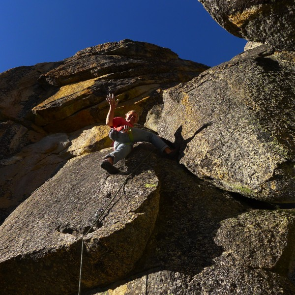 Mike Arechiga on, Hole In The Wall.5.10a, the new book gives this clim...