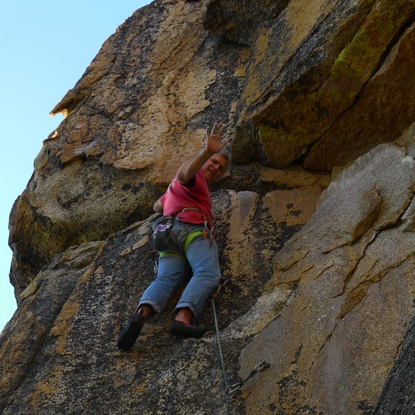 Mike Arechiga on, Into The Fold. 5.11a, real fun climb, amazing rock!