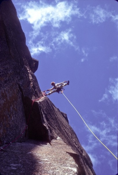 Eric Barrett on the Prow. 1976.