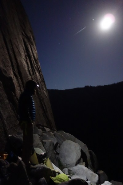 """On Mammoth Terraces with Skot Richards. """"The Shield,"""" El Capitan"""