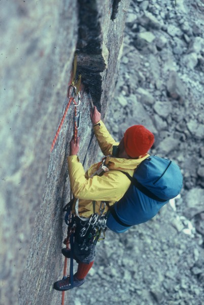 Shady Lady route, Mt Hooker, 1981