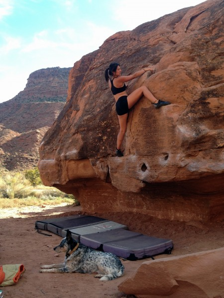 Bouldering is fun.