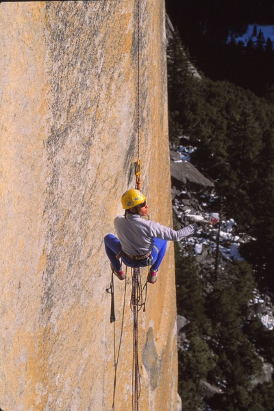 john free jugging on south face column. first wall