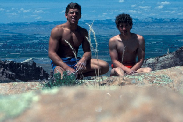 First time on the summit of Otto's Route, 1984.