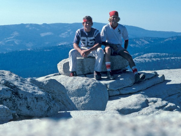 First time on the summit of Half Dome, 1978 with my high school buddy ...
